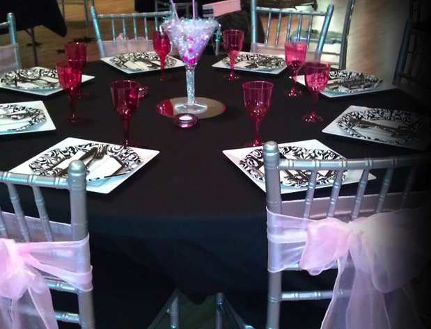 quince wedding reception
